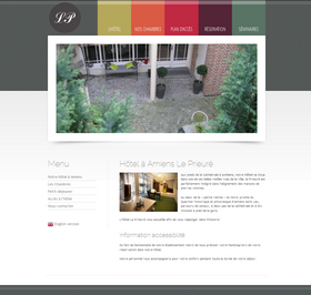 Creation de site web amiens - Hotel Prieure