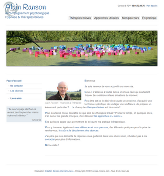 Creation de site web Hypnose Amiens